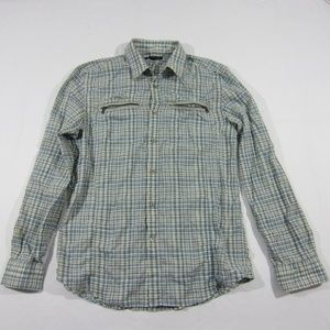 John Varvatos Star USA Plaid Blue Button Up Shirt